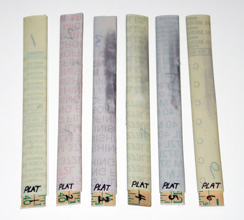 Six varieties of platinum micro-finishing film
