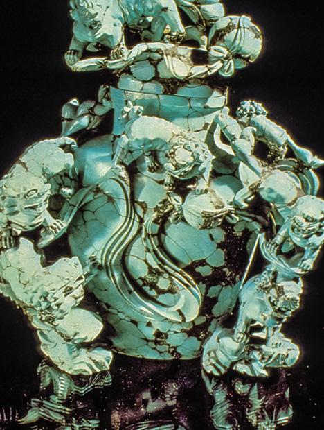 Ornate Turquoise Vase
