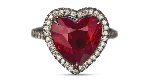 Heart Jewelry And Gems For A Valentine