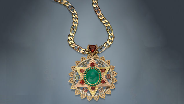 61 Ct. Emerald Stone Necklace