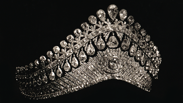 Diamond diadem with pendeloques, fashioned about 1820-1830.