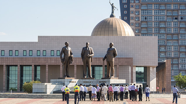 The Three Dikgosi monument, Gaborone