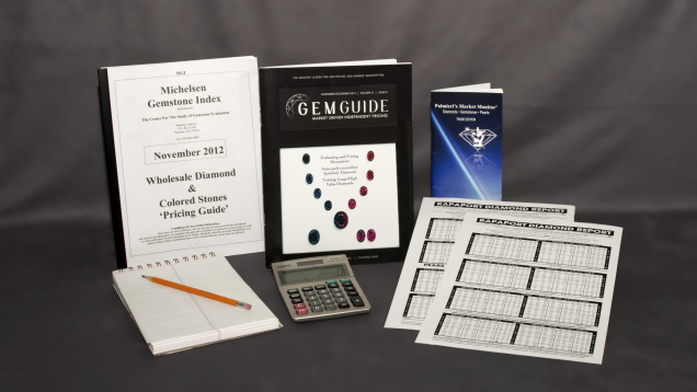 Pricing guides for gemstones