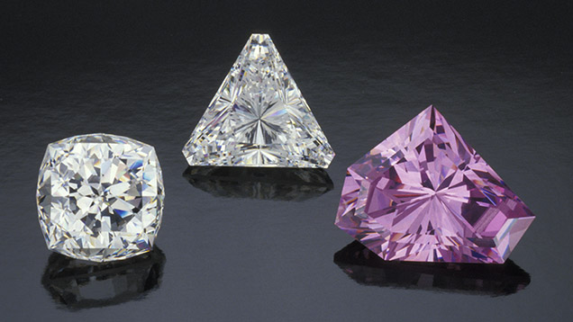 Colorless and pinkish purple CZ