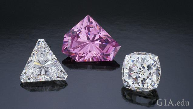 A colourful group of cubic zirconia set in jewellery - rings, earrings and bracelet – and loose.