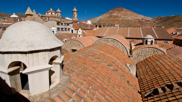 city of Potosi produces much of the world's silver. Cerro Rico