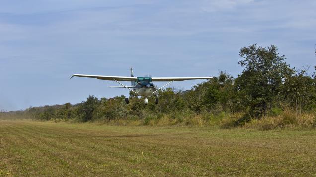 Aircraft Landing Near Anahi Mine