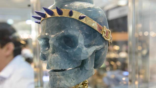アクアマリンの彫刻