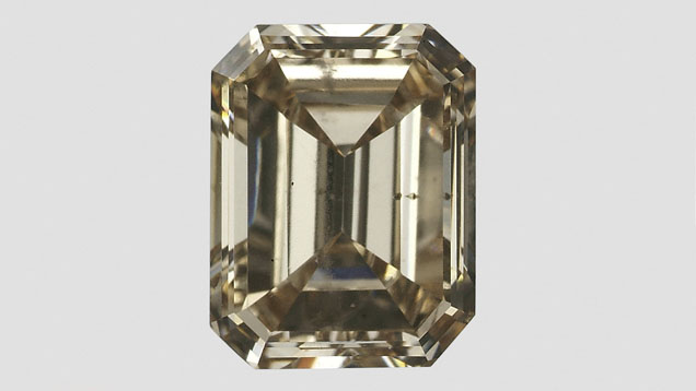 Unusual 0.94 ct yellow-brown CVD synthetic diamond