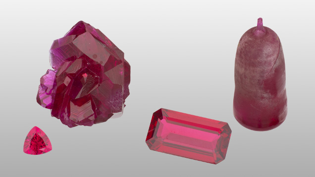 Synthetic rubies