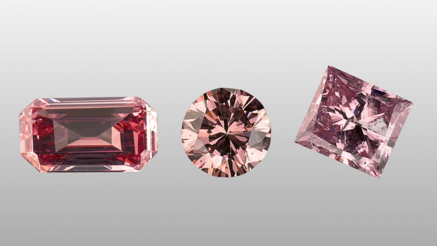 Surface coated diamonds