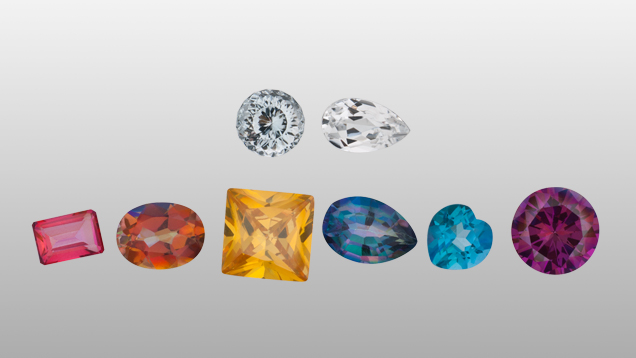 Natural and treated topaz