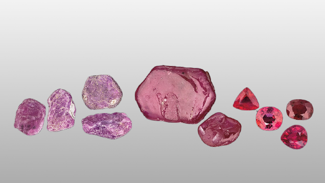 Fracture filled rubies