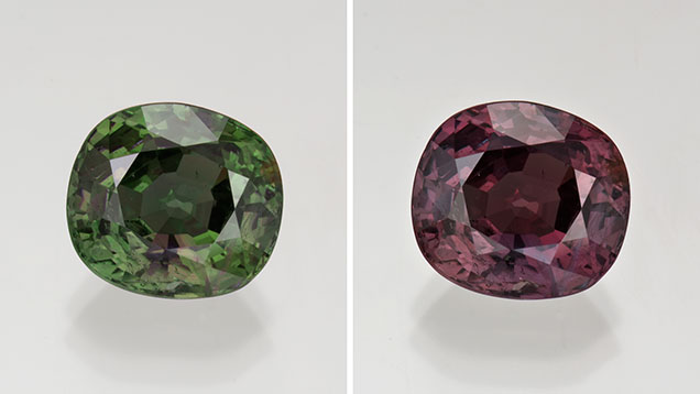 8.82-carat Cushion-Shaped Alexandrite