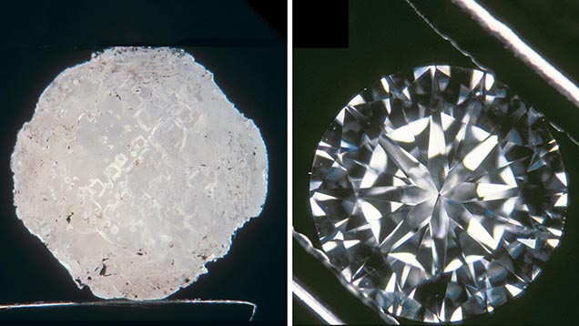 Recut diamond