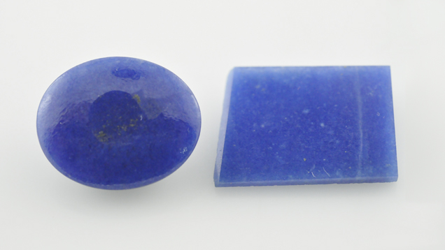 Dumortierite-Quartz Rock Presented as Sapphire