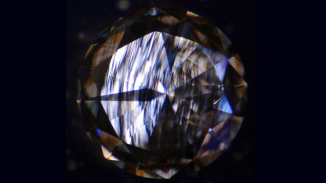 Undisclosed Large CVD Synthetic Diamond Double Refraction