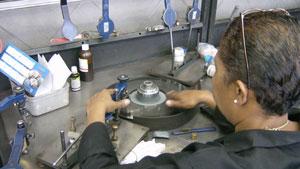 Diamond polishing at SAFDICO in South Africa