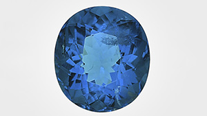 An exceptionally large and clean 1.91 ct faceted oval brilliant afghanite.