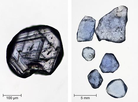Sapphires from Bingham Canyon (Utah) and Yogo Gulch