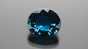 Largest faceted gahnospinel identified by GIA.