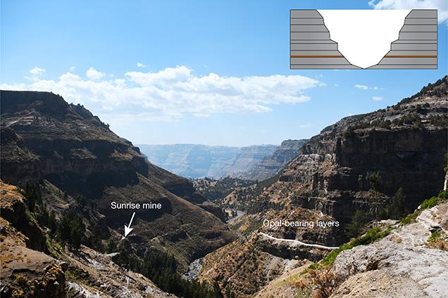 Valley site of an Ethiopian opal deposit