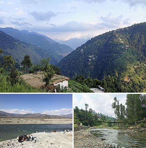 Scenes along the route to the Swat emerald deposit