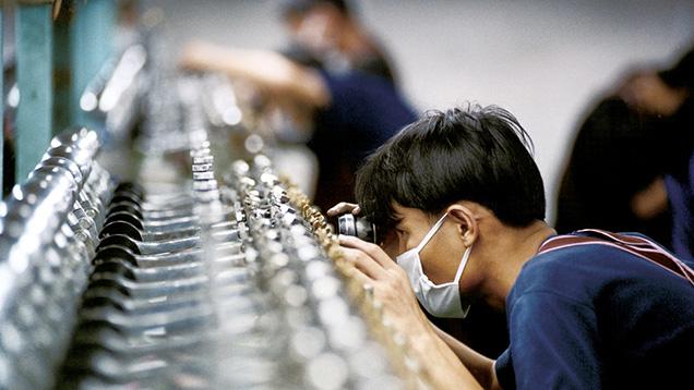 Diamond-polishing industry