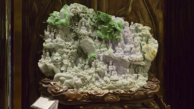 Jadeite Shan Zi large-scale carving