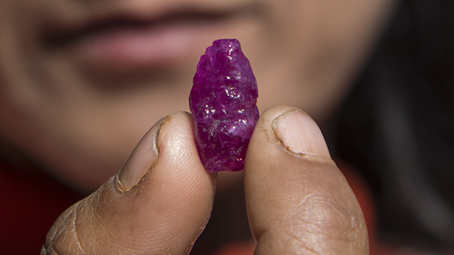 Trader offers ruby crystal
