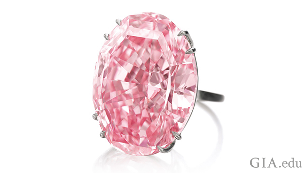 Image of Pink Star diamond set in a ring
