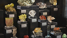 Display of fine mineral crystals