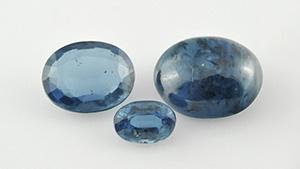 宝石質のインド産カイアナイト(藍晶石)