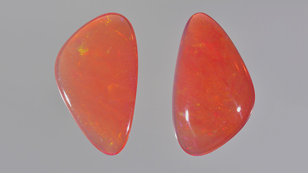 Opals exposed to long-wave UV