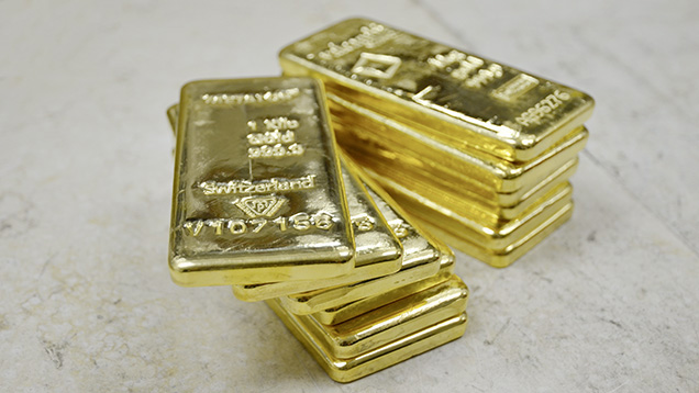 Gold bars representing Shanghai Gold Exchange