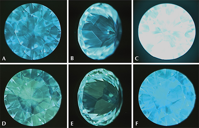 DiamondView images of fluorescence and phosphorescence in AOTC Group HPHT synthetic diamonds