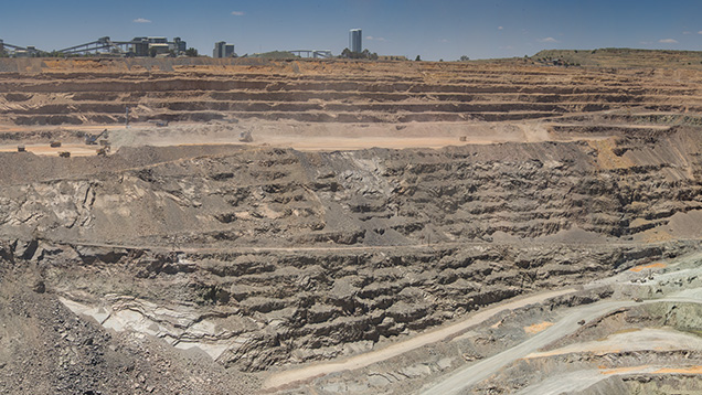 Panoramic view of Jwaneng mine