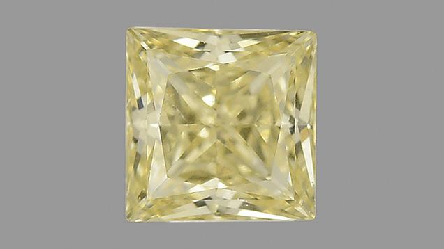 Fancy yellow 0.40 ct type Ib CVD-grown synthetic diamond