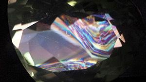 在光轴方向的巴西双晶律堇云石