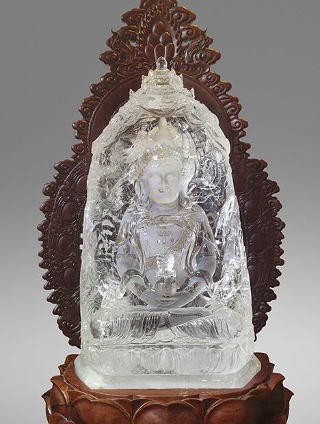Clear quartz carving