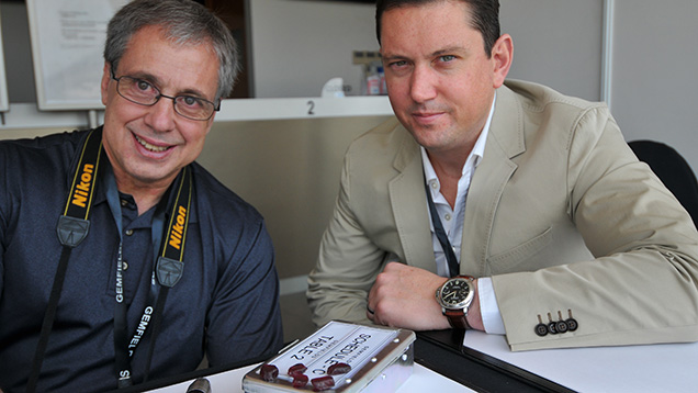 Andrew Lucas of GIA, Adrian Banks of Gemfields