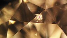 Garnet Crystal Inclusion Photomicrograph