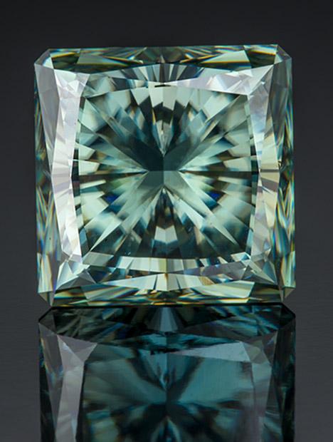 27.15 克拉蓝绿色合成碳硅石