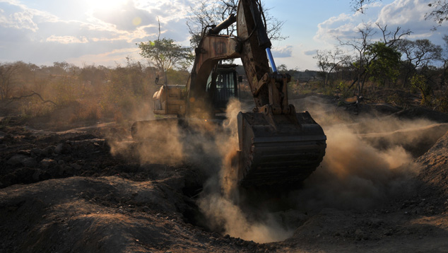 Illegal Mining Pit in Mugloto