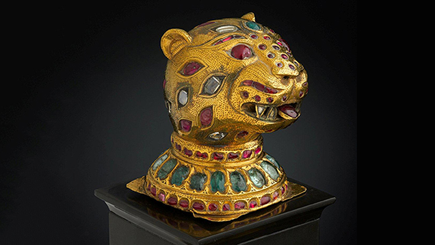 Tiger's-head finial from the throne of Tipu Sultan, circa 1790