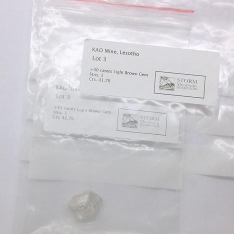 Rough diamond  at a December 2013 tender in Antwerp