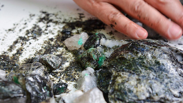 Emerald in Ore, Montebello mine, Brazil