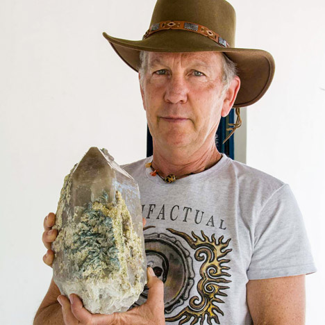 Geologist Brian Cook