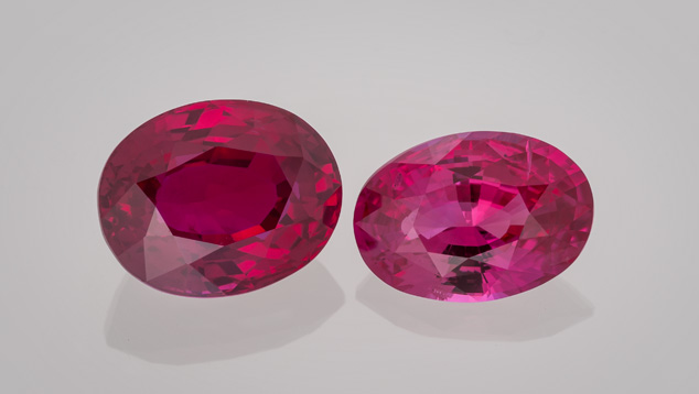 4.04 ct and 3.00 ct rubies