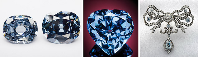 Famous blue diamonds